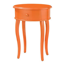 Joshua Marshal - Accent Table In Orange With Drawer - ACCENT TABLE IN ORANGE WITH DRAWER