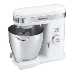 Cuisinart - Cuisinart 7-Quart. 12-Speed Stand Mixer - Die-cast metal construction and 7-quart Stainless Steel bowl with handles