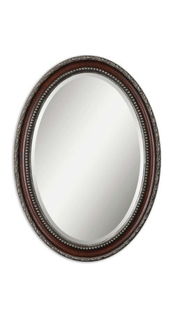 Uttermost - Montrose Oval Silver Mirror - This is a mirror that could be happy in any room in your home. The bathroom for instance, above your pedestal sink. Or in your entryway, so you can check your appearance one final time. Or in your dining room, above your sideboard. So many choices and just one mirror.