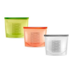 Lékué - Lékué 1-Quart Cooking Storage Bag - Lékué's versatile silicone bag hermetically seals liquids or solids keeping them fresh until you're ready to cook. This innovative, reusable bag can go from the refrigerator or freezer to the stove, oven, or microwave and then to the dishwasher.