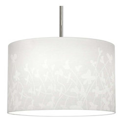 Progress Lighting - Progress Lighting P8766-01 Chloe Pendant Light In White Floral Pattern -