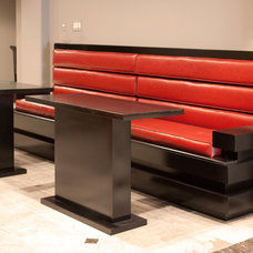 Contemporary Dining Benches by Millworx Design & Build