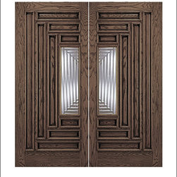 Unique Entry Doors Model #109 - Our Unique doors fit a wide array of home styles, from traditional to contemporary.  One of the unique features of this collection is the rich raised moulding which appears on both sides of the door.  Many doors in this collection also have matching sidelites and transoms.  The products are pictured in Oak, however they are available in both Oak and Mahogany.  Call 877-929-3667 to find out more information on your favorite door!