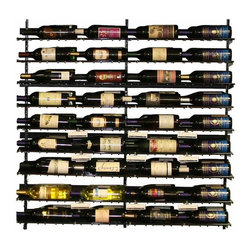 Wine Cellar Innovations - 4 Foot WineZone Wine Shelf Kit Option 1 - The WineZone Wine Shelf is a contemporary metal wine rack with a beautiful black finish in three and four foot heights. Versatile wine displays can be side to side or front to back. A wood wine shelf add on allows you to display liquors, glasses, cases, decanters, accessories, and more. Design and redesign based on your changing needs. Components sold separately. Easy assembly videos available.