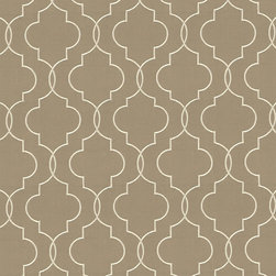 "Ballard Designs - Adler Taupe Fabric By The Yard - Content: 87% Cotton 13% Viscose. Repeat: Non-railroaded fabric with 7 3/4"" repeat. Care: Dry clean. Width: 54"" wide. Dressy, taupe cotton blend embroidered with a satiny geometric.  . .  . Width: 54"" wide . Because fabrics are available in whole-yard increments only, please round your yardage up to the next whole number if your project calls for fractions of a yard. To order fabric for Ballard Customer's-Own-Material (COM) items, please refer to the order instructions provided for each product.Ballard offers free fabric swatches: $5.95 Shipping and Processing, ten swatch maximum. Sorry, cut fabric is non-returnable."