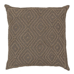 "Surya - Surya 20 x 20 Decorative Pillow, Slate Green and Olive Gray (LD026-2020P) - Surya LD026-2020P 20"" x 20"" Decorative Pillow, Slate Green and Olive Gray"