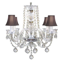 The Gallery - Swarovski Crystal Trimmed Chandelier - Murano Venetian Style All Crystal Chandel - This beautiful Chandelier is trimmed with SPECTRA(tm) CRYSTAL ? Reliable crystal quality by Swarovski?!