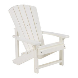C.R. Plastic Products - C.R. Plastics Kids Adirondack Chair In White - Can be used for residential or commercial use, Ergonomically designed, Heavy 78 gauge plastic lumber 12 used by competitors, All stainless steel hardware, No painting, No slivers, No Rot, Completely waterproof