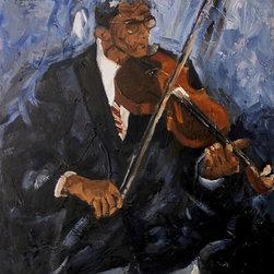 """El Violinista"" Artwork - A violinist playing the violin."