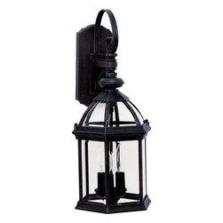 Maxim Lighting - Maxim Lighting 1022BK Builder Cast 3-Light Outdoor Wall Lantern In Black - Features