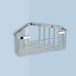 Gedy - Wire Corner Shower Basket - Wall mounted wire corner shower basket in chrome finish. Wall mounts are made out of thermoplastic resins in white, green, blue, red, chrome, black, orange, or fuchsia. From the Gedy Wire collection. Wall mounted wire corner shower basket in cromall. From Gedy Wire Collection.