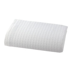 Kassatex - Kassatex Positano Twin Coverlet, White - 100% Cotton Matelasse 440GSM, Made in Portugal