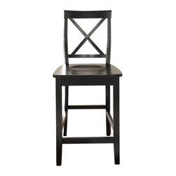 Crosley - X-Back Bar Stool - Dimensions: 22.5 x 18.5 x 40.5 inches