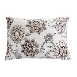 Sin in Linen - Henna Tattoo Pillowcase Set, King - Bring the spice of the middle east into your home with this henna tattoo print. Includes 2 pillowcases.