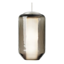 "LBL Lighting - LBL Lighting Mini Mason Brown 50W Monopoint 1 Light Pendant - LBL Lighting Mini Mason Brown 50W Monopoint 1 Light PendantInspired by the iconic outlines of a classic mason jar, this Brown Monopoint pendant gives a fresh twist to a familiar design. Featuring rich Brown glass surrounding an opal glass diffuser, a 50 watt xenon lamp shines through both layers of glass for the perfect ambient lighting for any home.Each Monopoint System lighting fixture includes a 4"" diameter single-point canopy with built-in transformer for a quick and easy installation.LBL Lighting Mini Mason Brown 50W Monopoint Features:"