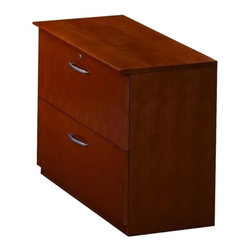 Mayline - Mayline Corsica Two-Drawer Lateral File - 36 Width x 19 Depth x 29.5 Height - 2 - Two-drawer lateral file features an all-veneer surface and is protected with two coats of high-tech catalyzed lacquer. Freestanding lateral file features a finished back, gang-lock mechanism. The lock has a removable core enabling keyed-alike suites. Drawer interiors are finished to match exterior veneer. Drawers operate smoothly using full-extension, ball-bearing suspension. Lateral file accommodates letter-size and legal-size, hanging file folders and includes counterweight for stability when in use.