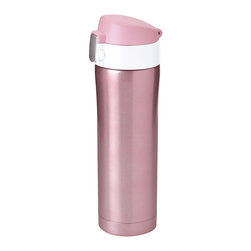 Adnart - Diva Cup - Pink/White - Insulated beverage container locking lid protection. Make a fashion statement. Vacuum insulated double wall.