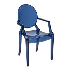 iMax - iMax Adamaris Blue Transparent Arm Chair X-22598 - Featuring a modern and funky design concept, this trend-setting stylish chair incorporates a cutting edge blue transparent acrylic design that transitions well in a variety of d�_cor.
