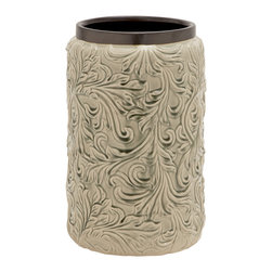 Benzara - Beautiful and Unique Style Patterned Ceramic Vase Home Decor - Description: