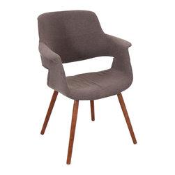 "Lumisource - Vintage Flair Chair, Medium Brown - 21.25"" L x 27"" W x 34.5"" H"