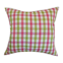 Pillow Collection - The Pillow Collection Manteo Plaid Pillow - Flamingo Multicolor - P18-D-32492-FL - Shop for Pillows from Hayneedle.com! Put the flamingos in the yard and get out the picnic basket The Pillow Collection Manteo Plaid Pillow - Flamingo will have you ready for summer. Made of 100% high-quality cotton this cheery square pillow features a plush 95/5 feather/down insert for ultra softness. The classic plaid pattern gets a modern update with bright pink and green.About The Pillow CollectionIdentical twin brothers Adam and Kyle started The Pillow Collection with a simple objective. They wanted to create an extensive selection of beautiful and affordable throw pillows. Their father is a renowned interior designer and they developed a deep appreciation of style from him. They hand select all fabrics to find the perfect cottons linens damasks and silks in a variety of colors patterns and designs. Standard features include hidden full-length zippers and luxurious high polyester fiber or down blended inserts. At The Pillow Collection they know that a throw pillow makes a room.