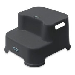 Ginsey - Ginsey Graco Transitions Step Stool in Pewter Grey - Provide confidence to your little one with the Graco Transitions Step Stool. It features handles on each side, so your child can carry it around easily from room to room.