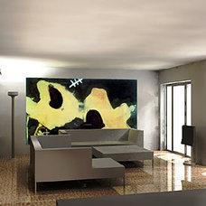 Modern Living Room by ibla Inglis Badrashi Loddo Architects