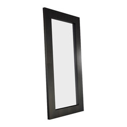Modloft - Modloft Norfolk Mirror - SP924-LAQ - Wenge - Rectangular Mirror in White Lacquer, Walnut or Wenge belongs to Norfolk Collection from LOFT Series by Modloft The Norfolk mirror stands over six feet tall, supported by a sturdy frame. Display it as a traditional floor standing mirror or mount it to the wall as a horizontal fixture for a nouveau look around the home. The Norfolk is the perfect accessory to brighten and open any space within the room. Available in wenge or walnut wood finish. Mirror (1)