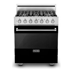 """Viking 3 Series 30"""" Gas Self Clean Range, Black Natural Gas 