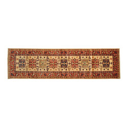 Oriental Rug, Hand Knotted 2'X9' Super Kazak Runner 100% Wool Rug SH12975 - This collections consists of well known classical southwestern designs like Kazaks, Serapis, Herizs, Mamluks, Kilims, and Bokaras. These tribal motifs are very popular down in the South and especially out west.