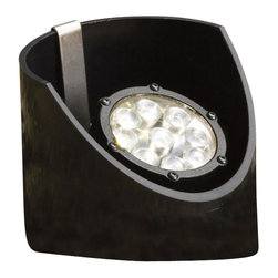 """Kichler 9-Light Landscape Fixture - Textured Black - Nine Light Landscape Fixture. A large 60 degree light spread adds ample lighting to a landscape lighting scheme. This lighting in-ground LED well light features a low voltage (12 volts) system and a clean textured black finish for a seamless finishing touch. Heavy duty polypropylene sleeve provides in-ground fixture support. Integrated driver. Wiring is 24"""" of usable #18-2, spt-1-w leads. Cable connector supplied. Separate driver is not required with this series. Not intended for use with electronic transformers."""