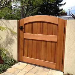 Signature Wooden Garden Gate - Signature Garden Gate with a leverset.  Clear-grade, kiln-dried Western Red Cedar with a clear stain for protection.