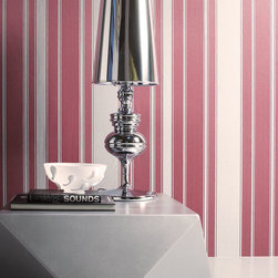 Red and Tan Striped - Give your walls a traditional look with a modern flare with wallpaper from the Regent Collection by Brewster