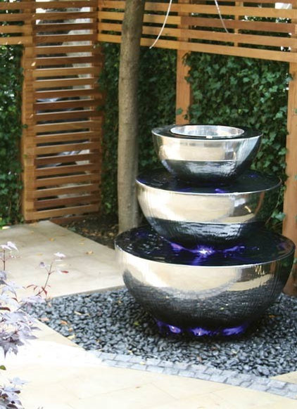 contemporary outdoor fountains by David Harber