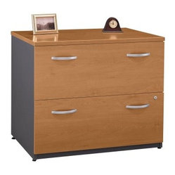 Bush Series C Lateral File Cabinet in Natural Cherry - Keep files and ...
