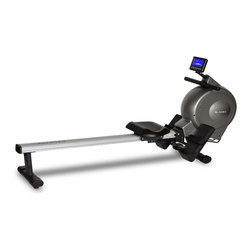 Bladez Fitness - Bladez Fitness Cascade Rower - The Cascade is a full size rowing machine utilizing magnetic resistance for an intense workout. With its full size aluminum rail and long handle pull, the Cascade can accommodate a wide variety of user sizes. Using an easy to read backlit LCD console with a wide variety of programs and resistance levels, the Cascade features a folding design for easy storage when not in use.