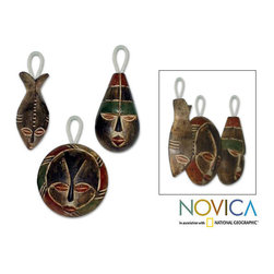 Novica - Set of Three Wooden 'Three Kings' Ornaments (Ghana) - Original design 'Three Kings' ornaments are made in Ghana by Daniel NyadedzorWooden accent pieces depict the Three Kings from the Christmas storySet of three decorative accessories brings African art to holiday home decor