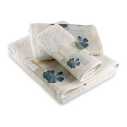 Croscill - Croscill Spa Leaf Bath Towel - A floral and leaf motif in subtle shades of blue and green adds a simple, sophisticated touch to your bathroom. Coordinate with the Spa Leaf bath ensemble, bath rug and shower curtain for a finished look.