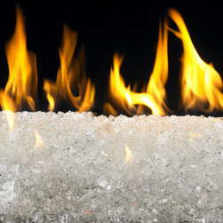 "American Fireglass StarFire | 1/2-in Fire Glass | 10 lbs - AFF-STFR12-10 American Fireglass Star Fire 1/2"" CRYSTAL BRILLANCE Fireplace Gems 10 lbs Perfect for outdoor fire pits and fireplaces Provides unequaled versatility: available in a multitude of colors & sizes Glass Gems are tempered for long term heat exposure - Thanks to the special manufacturing process Fireglass Gems retain their color and actually burn cleaner than gas logs Starfire is unique and elegant and is a great choice for indoor or outdoor use. The brilliant color gives the illusion that the flame is burning on a bed sparkling gems or as though the flame is rising through ice. An Average 36"" Fireplace Takes Approximately 60 lbs. of gems An Average 42"" Fireplace Takes Approximately 80 lbs. of gems Lava granules can be used initially on the burner then covered with Fireglass Gems to reduce the amount needed Gems are sold in 10 bags Combine multiple gem colors for spectacular fire!"