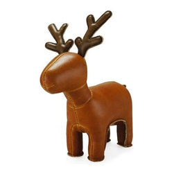 Zuny - Zuny Series Miyo Reindeer Tan Animal Paperweight - This diminutive deer can be used as a paperweight in the off season.