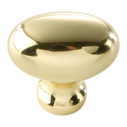 Hickory Hardware - Williamsburg Polished Brass Cabinet Knob - Bridges contemporary and traditional design.  Offering a deep rooted sense of history in some, with an updated feel and cleaner lines.