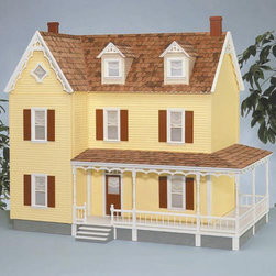 Real Good Toys - Real Good Toys Danville Dollhouse Kit - 1 Inch Scale - 1707-MM - Shop for Dollhouses and Dollhouse Furnishings from Hayneedle.com! Any collector of miniatures would be proud to display the classic Real Good Toys Danville Dollhouse Kit - 1-Inch Scale. With a dozen spacious rooms and impressive 9.438-inch floor-to-ceiling height it makes a wonderful gathering place for figurines. This kit includes a pair of 45-degree dormers 19-inch wraparound porch and partial front-opening access for your convenience. It will take approximately 30 to 40 hours to assemble and finish. This traditional 3-story house is available in two different durable construction options. Choose between milled plywood and MDF wall finishes. The decorative porch and other exceptional details reflect the uncompromising craftsmanship that went into the creation of this model adding fanciful form to an already handsome design. It features pre-assembled windows and doors moveable room dividers wooden shingles and sturdy 0.375-inch exterior walls and grooved sidewalls. Recommended supplies include a hammer glue masking tape sandpaper paint brushes ruler and brads. This exquisite kit is suitable for use by collectors. As it includes small pieces it's not recommended for children under the age of 3. About Real Good ToysBased in Barre Vt. Real Good Toys has been hand-crafting miniature homes since 1973. By designing and engineering the world's best and easiest to assemble miniature homes Real Good Toys makes dreams come true. Their commitment to exceptional detail the highest level of quality and ease of assembly make them one of the most recommended names in dollhouses. Real Good dollhouses make priceless gifts to pass on to your children and your children's children for years to come.
