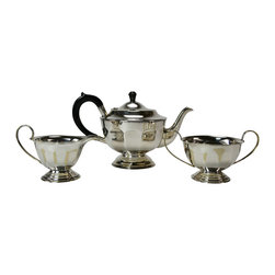 Lavish Shoestring - Consigned Silver Plated Art Deco Faceted Tea Set, Antique English, circa 1930 - What you need to know