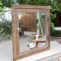 Corner Mirror Medicine Cabinet by Treehouse Woodworks - Etsy has many custom options. I like the proportions of this rustic cabinet.