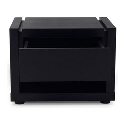 "Zuri Furniture - Count Dark Oak Night Stand 24 inch wide - You can count on ""Count"" to bring your bedroom a more streamline and simplistic feel. Its dark oak finish will fit in seamlessly with any color space!"