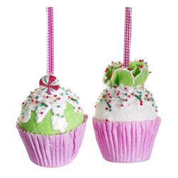 Silk Plants Direct - Silk Plants Direct Cupcake Ornament (Pack of 6) - Silk Plants Direct specializes in manufacturing, design and supply of the most life-like, premium quality artificial plants, trees, flowers, arrangements, topiaries and containers for home, office and commercial use. Our Cupcake Ornament includes the following:
