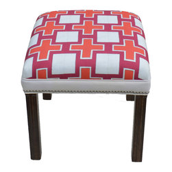 "Carrier Collective - ""Crossing Paths"" Ottoman - Meet ""Crossing Paths"".  One of our Native American inspired designed Ottomans."