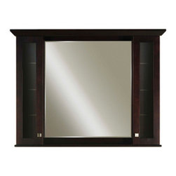 """Water Creation Inc. - Manhattan Collection Matching Medicine Cabinet with Mirror for 48"""" Vanity - The Manhattan Collection Medicine Cabinet with Mirror will add light and dimension to any room. This beautiful Maple medicine cabinet features a matching Espresso finish and beveled glass."""