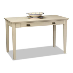 KD Furnishings - White Hardwood Laptop Desk - Perfect for laptops or to hide away papers or a desktop keyboard,this delicately scaled desk offers abundant organization assistance in just a tiny space.