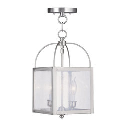 Livex - Livex Milford Convertible Chain Hang/Ceiling Mount 4045-91 - Finish: Brushed Nickel